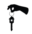 Key with house on it and arm vector