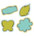 Set of bubbles stickers labels tags vector
