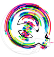 Colorful font letter q vector