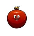 Red cartoon pomegranate vector
