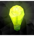 Light bulb on black vector