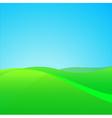 Summer green field vector