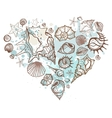 Heart of the shells hand drawn vector