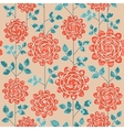 Seamless background with red roses vector