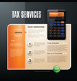 Tax firm web template vector