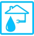 Water icon with drop and wrench vector