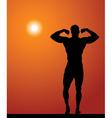 Sportsman silhouette vector