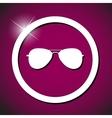 Sun glasses icon vector