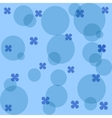 Blue flowers and circles vector