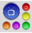 Retro tv mode sign icon television set symbol set vector