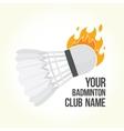 Badminton is on fire vector