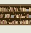 Flat design brown bookshelf vector