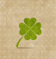 Vintage design with four-leaf clover for st vector