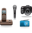 Gadgets and devices in cartoon style vector