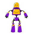 Futuristic toy robot in vivid yellow and blue vector