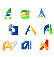 Set of alphabet symbols vector