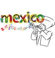 Mexican mariachi vector