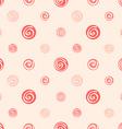 Pink soft abstract seamless pattern polka dot vector