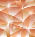 Geometric pattern with orange triangles background vector