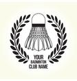 Badminton silhouette club logo vector