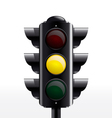 Traffic light yellow vector