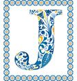 Blue letter j vector