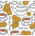 Biscuit and tea vector