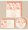 Set of wedding invitations vector