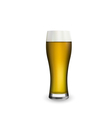 Close up realistic glass of beer isolated on white vector