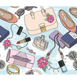 Cute seamless fashion pattern for girls or woman vector