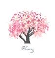 Apple tree blossom sketch vector