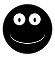 Smile face circle icon vector
