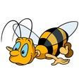 Flying bumblebee vector