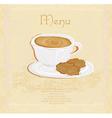 Menu coffee shop vector