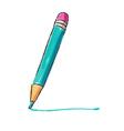 Bright colors pencil drawing vector