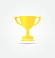 Gold trophy icon vector