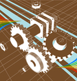 Abstract machine background vector
