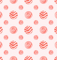 Pink soft polka dot seamless pattern vector