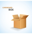 Cardboard open box vector