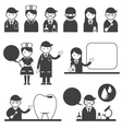 Doctor and nurse symbol icons set vector