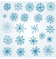 Hand drawn snowflakes vector