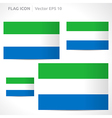 Sierra leone flag template vector