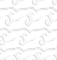 White wavy lines and curly shapes seamless vector