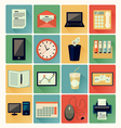 Flat icons office 01 vector