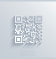 Modern qr code background vector