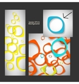 Set abstract style background vector