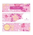 Pink abstract triangles horizontal banners set vector