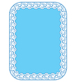 Blue elegant frame on white background vector