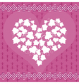 Card with ivy heart vector