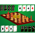 Domino cards dice chess vector